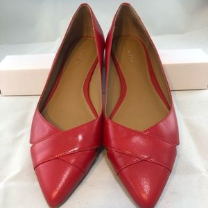 Calvin Klein Women's Red leather flats